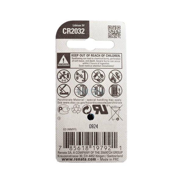 باتری سکهای لیتیومی رناتا مدل CR2032